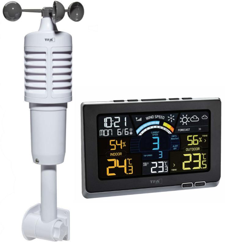 Sonda exterior y pantalla Estacion meteorologica TFA